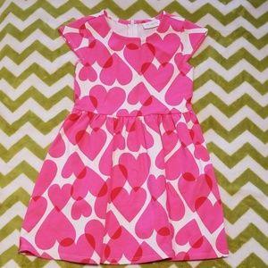 The Children's Place Pink Heart Dress Sz Sm 5/6 HS
